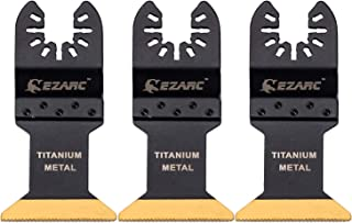 EZARC Titanium Oscillating Multitool Blade for Wood, Metal and Hard Material, 3-Pack
