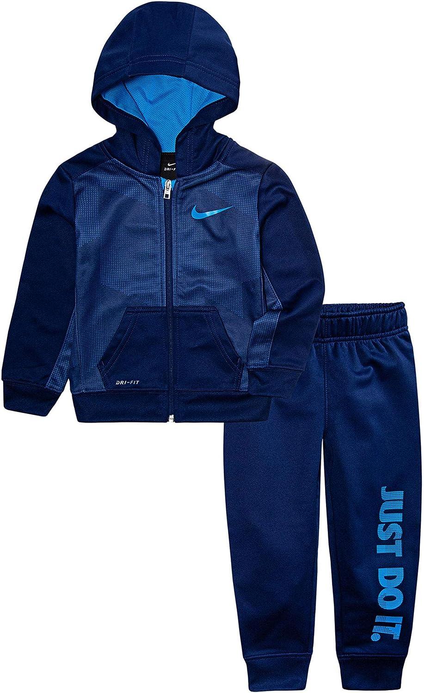 Nike Boy`s Dry Fit Therma Legacy Zip Hoodie & Pants 2 Piece Set