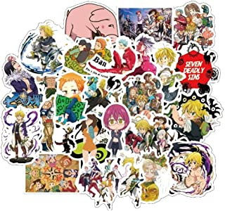 Modern Anime Themed Seven Deadly Sins 50 Piece Sticker Decal Set for Kids Adults - Laptop Motorcycle Skateboard Decals