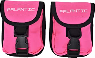 Blue Palantic Scuba Diving Weight Pocket Pouch with QR Buckles Pair