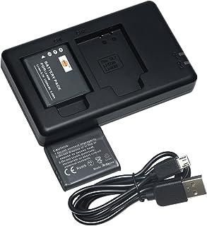 DSTE 2PCS LI-60B(1350mAh/3.7V) Batería Cargador Compatible para Olympus FE-370Pentax D-LI78Optio L50M60S1V20W80Nikon EN-EL11Coolpix S550S560Ricoh DB-80R50Sanyo DB-L70Xacti VPC-E10 Cámara