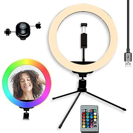 Led Ringlicht Stativ Ranikeer 10 Rgb Selfie Kamera