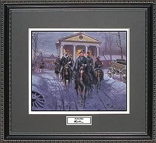 BigOfficeArt Mort Kunstler The Gray Ghost Framed Wall Art Civil War Print, 18x16