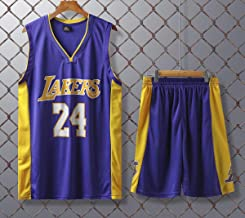 JX-PEP Basketbal Uniformen Lakers #24 Retro Basketbal Zomer Truien Fan Shirt Vest Mouwloos Sportkleding Ademend Sport Unif...
