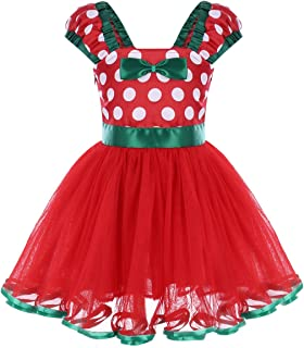 Toddlers Baby Girls' Polka Dots Minnie Birthday Princess Party Cosplay Pageant Costume Tutu Dress Up Dance Skirt