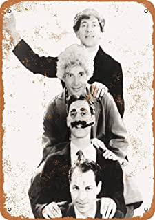 QDTrade Metal Sign 12 x 16inch - 1931 Marx Brothers Portrait - Vintage Look Home Deco Sign