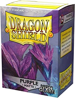 Dragon Shield Non-Glare Matte Purple Standard Size 100 ct Card Sleeves Individual Pack