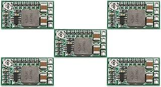 DROK 直流 dc 降圧モジュール 5pcs ミニ電圧レギュレータ DC 4.5〜24V 12V 24Vから5Vへ降圧なコンバータ ボード 3A 降圧型 トランス電源モジュール