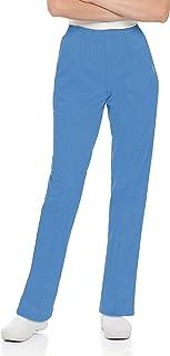 Landau Women's Comfortable 2-Pocket Classic Fit Medical Scrub Pant Uniform, Ceil Blue, Small Petite