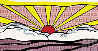 ArtToCanvas 32W x 17H inches : Sunrise by Roy Lichtenstein - Paper Print ONLY