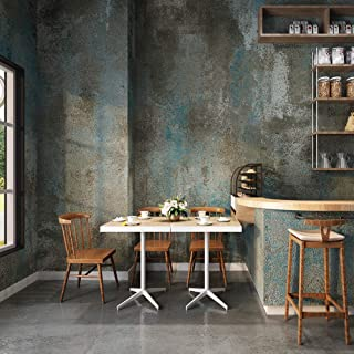3304 Concrete Texture Wallpaper Blue/Gray Rustic Stained Cement Wallpaper Home Restaurant Bar Wall Decoration 20.8