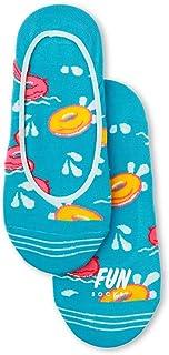 Fun Socks Women's Flower No Show Liner