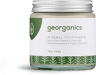 GEORGANICS - Dentífrico Natural Remineralizante con Aceite de Coco - Árbol de Te 120ML -GEORGANICS- - GEOTEA120