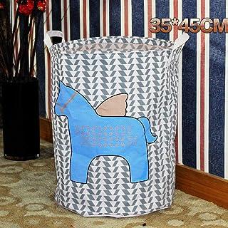 MJY Panier à linge en toile, Panier de rangement imperméable bleu Pegasus pour sac à linge sale Panier Boîte de rangement ...