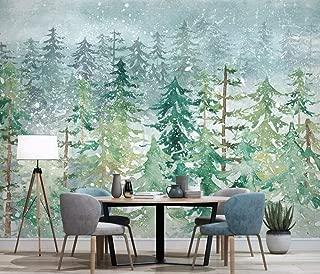 Wall Mural 3D Hand Drawn Pine Forest Abstract Woods Custom Wallpaper 3D Effect Large Mural Wall Murals Home Decor