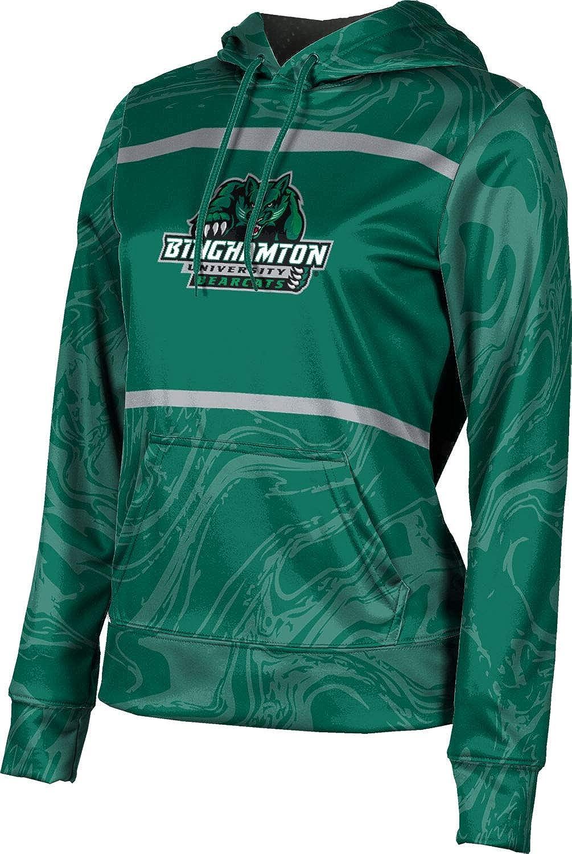 ProSphere Binghamton University Girls' Pullover Hoodie, School Spirit Sweatshirt (Ripple)