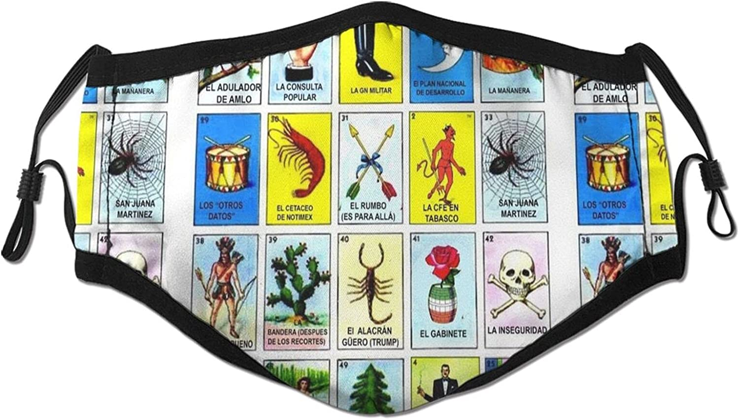 Loteria Bombing free shipping Mexicana Completa Adult Adjustable Breathable Detroit Mall Fashion Fa