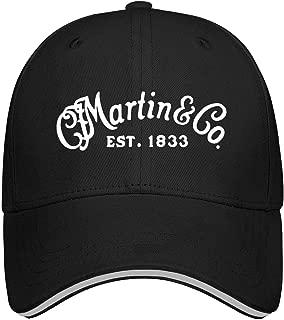 Unisex Baseball Hats for Mens Womens Snapback C.-F.-Martin-Guitar- Caps