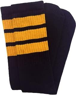 black and gold thigh high socks