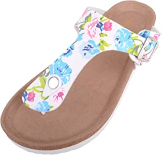 ABSOLUTE FOOTWEAR Womens Slip On Light Weight Summer/Holiday Floral Sandals/Shoes