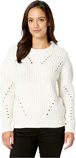 Long Sleeve Transfer Ribbed Sweater