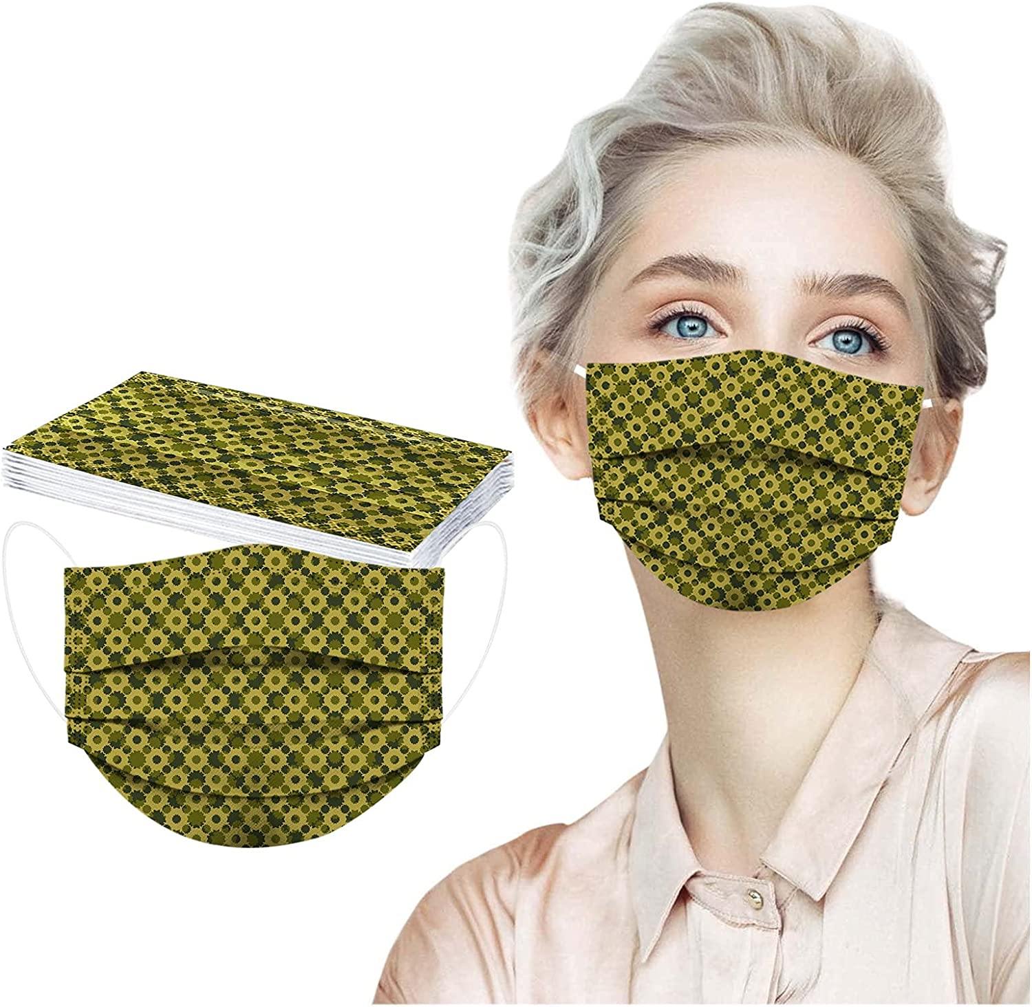 ERWGVH 50PCS Adults Face_Mask Special price Face Protections Disposable In a popularity 3Ply