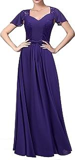 HOMEYEE Women's Bridesmaid Maxi Wedding Dress A024