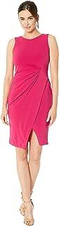 Women's Sleeveless Side Ruched Sheath Dress