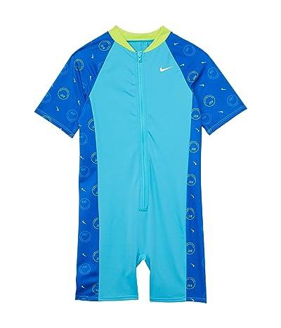 Nike Kids Color-Block Short Sleeve Zip Leg Suit (Little Kids/Big Kids)