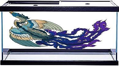 SoSung - Tatuaje de pavo real chino dibujado a mano, diseño de pecera submarina, 91,44 x 40,64 cm