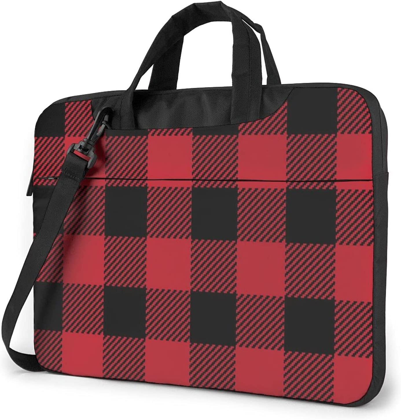 Red Plaid Square Classic Slim Shoulder Max 85% OFF Crossbody Bag Briefcase A surprise price is realized