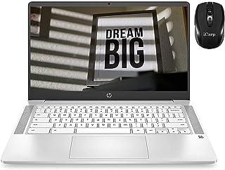2020 フラッグシップ HP Chromebook 14 ラップトップ コンピューター 14インチ FHD IPS ディスプレイ Intel Celeron N4000 4GB RAM 32GB eMMC 256G SDカード Intel U...