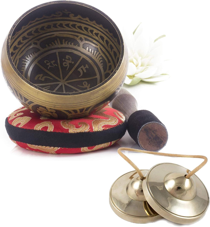 Silent おしゃれ Mind ~ Tibetan Singing 無料サンプルOK Bowl Design and Antique Set Bron