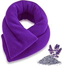Sunny Bay Lavender-scented Extra Long Neck Heat Wrap, Aromatherapy, Microwavable (purple)