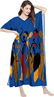 RADANYA Women's African Print Maxi Long Dress Cotton Casual Cover up Dress