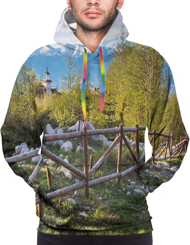 Men's Hoodies Sweatshirts,Artsy Grunge Astronaut and Planet Earth with Geometric Digital Art Watercolor Print