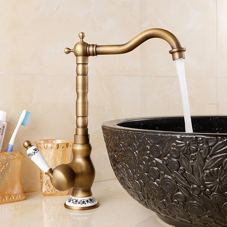 GQSS Hotel Faucet, Continental Copper Hot And Cold Faucet, Single-handle Single-hole Faucet ( color   CT )