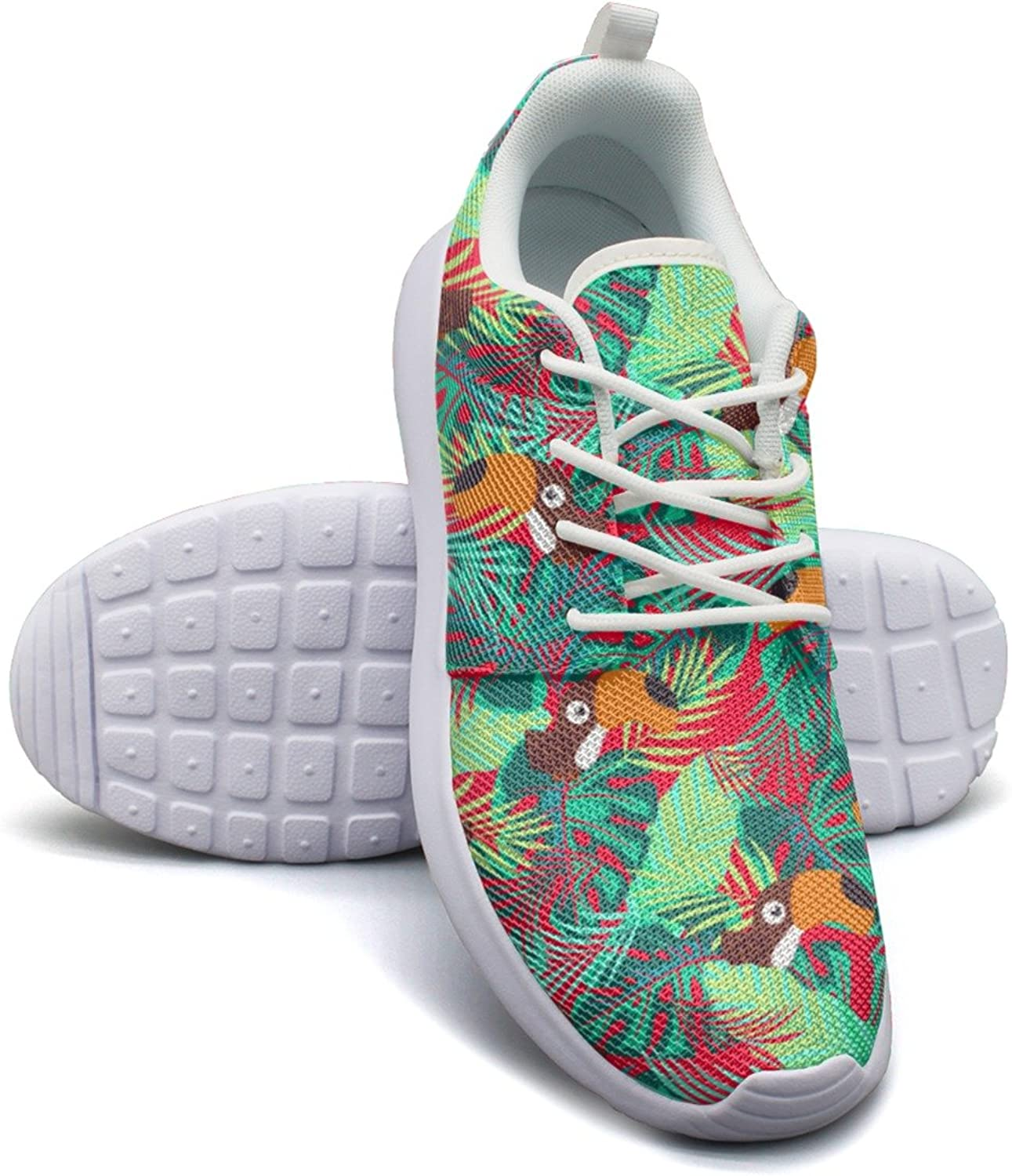 Abstract Toco Toucan Women's Lightweight Mesh Volleyball Sneakers Retro Gym shoes