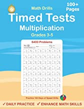 Timed Tests: Multiplication Math Drills, Practice 100 days of speed drills: Digits 0-12, Grades 3-5 PDF