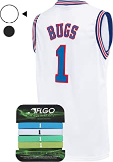 Bugs #1 Space Jersey Basketball Jerseys Include Set Glow in The Dark Wristbands Halloween Costumes