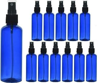 Vumdua 4OZ / 100ML Plastic Bottles, Empty Mini Plastic Bottle, Portable Refillable Liquid Containers For Travel, Cleaning, Perfume (12 Pcs, Blue)