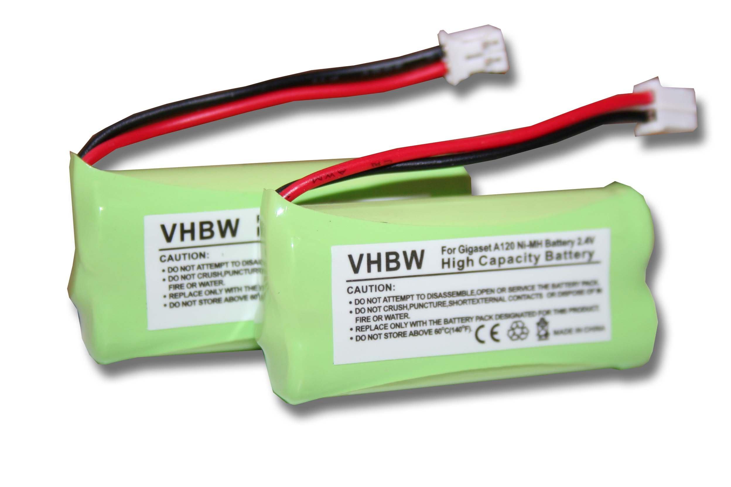 vhbw 2X NiMH batería 700mAh (2.4V) para teléfono Fijo inalámbrico Siemens Gigaset A12, A120, A14, A140 y V30145-K1310-X359, V30145-K1310-X383.: Amazon.es: Electrónica