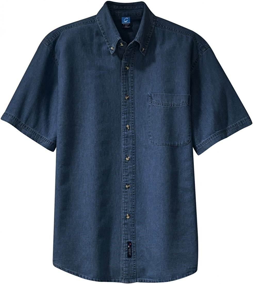 Port & Company Short Sleeve Denim Shirt (SP11)