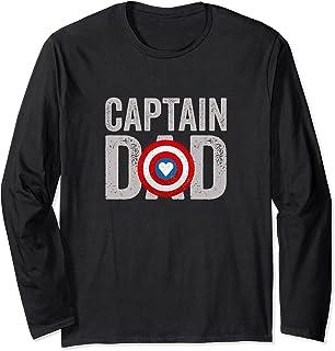 Super Captain Dad Superhero Manche Longue