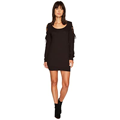 Lanston Tie Shoulder Mini Dress (Black) Women