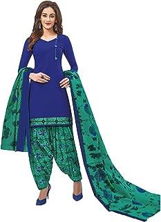 Jevi Prints Women's Cotton Printed Readymade Stitched Salwar Suit Dupatta (SUIT_CP-226)