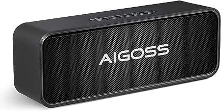 Aigoss Altavoz Bluetooth Portátil Sonido Estéreo, Efecto