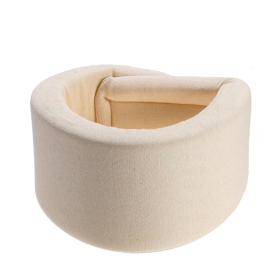 空虚チーズ一月HEALLILY 首装具サポートスポンジ頚部襟首の痛みを防ぐ首のケアの姿勢補正機能(ベージュ) - サイズXL