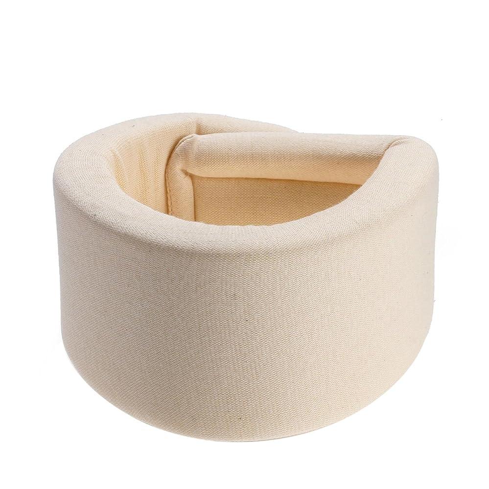 お酢船寺院SUPVOX ソフトネックブレースサポートスポンジ頚部襟堅い首の痛みを軽減首ヘルスケア(ベージュ) - サイズXL
