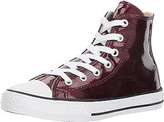 Converse Girls' Chuck Taylor All Star Glitter High Top Sneaker, Brick/Natural, 2 M US Little Kid